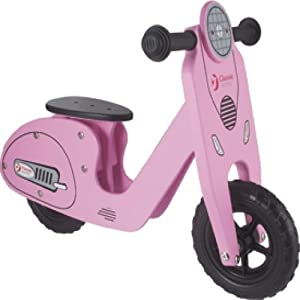 Classic World Toys - Bicicleta de Madera, Color Rosa