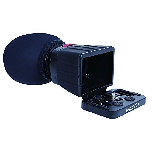 Visor para Vídeo Compatible con Pantalla LCD 3X Universal Movo Photo VF30-V2 para cámaras DSLR Canon EOS, Nikon, Sony Alpha, Olympus & Pentax