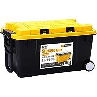Cassetta degli attrezzi Caja de almacenamiento de la caja de almacenamiento de la carretilla Caja de almacenamiento del tronco de coche 55L (Color : C)