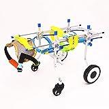 YWUO Rollstuhl, verstellbar, für Hunde mit 2 Rädern, Größe XXS-XXL, Gewicht 4 bis 110 kg, S