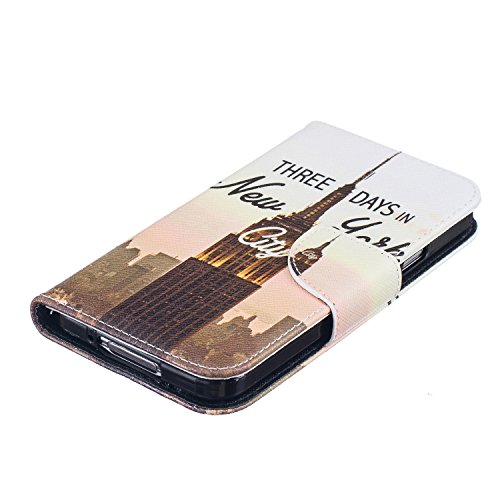 Cozy Hut® Samsung Galaxy S5 Housse, Ultra-mince Etui En Cuir PU Flip Cassette Intérieur Pour Cartes Pour Samsung Galaxy S5 New Mode Fine Folio Wallet/Portefeuille + Stand Support + Card Slot + Magnéti tour de transmission