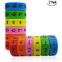 a7c5a24e36e Xrten Giocattolo Magnetico Aritmetico per Bambini Apprendimento Aritmetico  Magnetico Giocattolo Magnetic Matematica Cilindro 2pcs