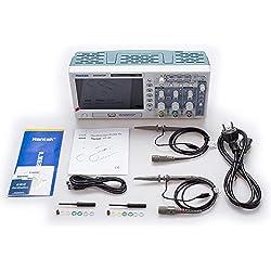 Hantek DSO5202P Osciloscopio Digital 200 MHz Ancho de Banda 2 Canales PC USB LCD Osciloscopio Multímetro de generador de Forma de Onda