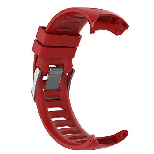 Vamoro Armbanduhr Armband Armband Ersatz Uhren-Armband für Garmin Forerunner 610 bedienwerkzeug(Rot)