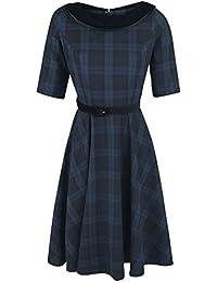 Hell Bunny Livingstone 50´s Dress Kleid schwarz/blau