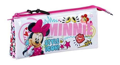 Minnie SAFTA Estuche Escolar Mouse Cool Oficial 220x30x100mm