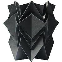 Cache pot ou pot à crayon origami design en papier - noire