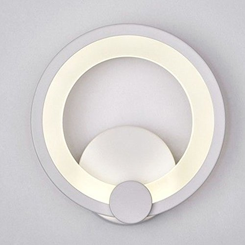 Citra Creative Modern Minimalist Aluminum LED Wall Lamp Bedside Hallway Bathroom Mirror Light,12W White