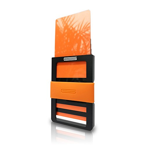 GOUTALLIER ® ALU Slim Wallet - Kreditkartenetui mit 2.2mm Münzfach und Geldklammer/Geldclip aus Flugzeug-Aluminium - kleine Geldbörse mit Kleingeldfach und 3 SuperForce Bändern