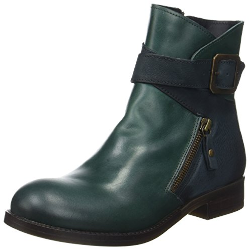 FLY London Damen Afar021fly Chelsea Boots, Grün (Petrol/Reef), 42 EU Grüne Leder Stiefel