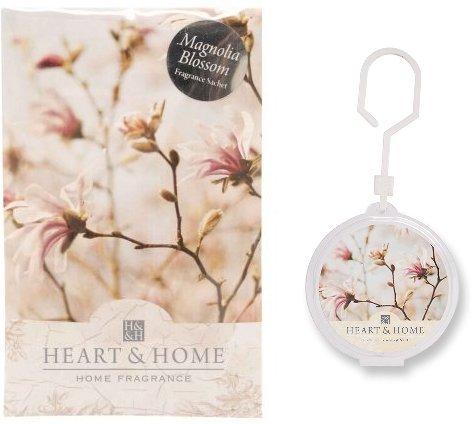 2 Magnolia Blossom (Set von 2Herz und Home, Magnolia Blossom Home und Car Duftsachet Lufterfrischer Duo)