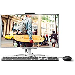 "Medion Akoya E23401 All-in-One - Ordenador sobremesa de 23.8"" FullHD (Intel Core i3-7020U, 8GB RAM, 1TB HDD, Intel UHD Graphics, Windows 10) Plata + Teclado QWERTY español + Ratón USB"