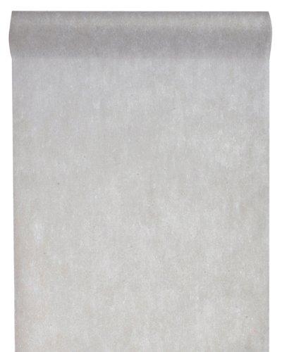 Tischläufer grau 'Vlies' 30cm x 10m- Dekostoff - Dekoration zur Hochzeit oder Feier - 2810