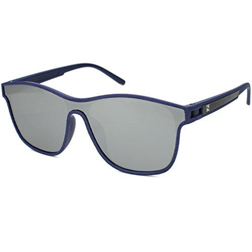 Guay Anteojos de Sol para Hombres Polarizadas Wayfarer Gafas 1 Piezas  Espejo Revestimiento Lentes TR90 Monturas ba8d270c29