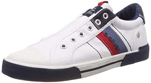s.Oliver Herren 5-5-14603-22 100 Slip On Sneaker Weiß (White 100), 43 EU