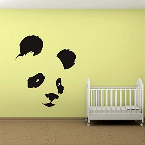 yiyiyaya Panda Kopf Wandaufkleber Babyzimmer Dekorative Wandtattoo Schlafzimmer Abnehmbare Vinyl Aufkleber Für Kinder weiß 68x59 cm
