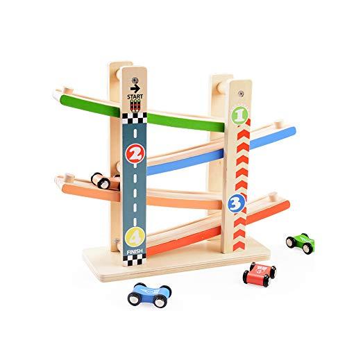 YMUUIHC Hölzernes Kinderspielzeug,Inertial Track Block,Kinderspielzeug, Wettbewerb Spielzeugauto,Pädagogisches hölzernes Spielzeug der Kinder,City