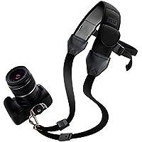 USA Gear tracolla da spalle per fotocamere confortevole con strap in neoprene imbottito & tasche per accessori - Perfetto con Canon 1300D, 100D, 750D, 700D / Nikon D3300, D3200, D5300… E tutto tipo de fotocamere!