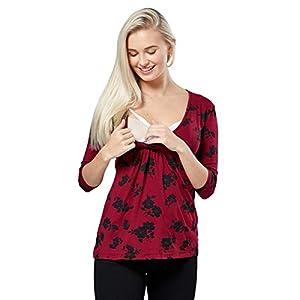 Happy-Mama-Premam-Top-Camiseta-de-Lactancia-Efecto-2-en-1-para-Mujer-372p-Carmes-Met-Flores-EU-44-2XL