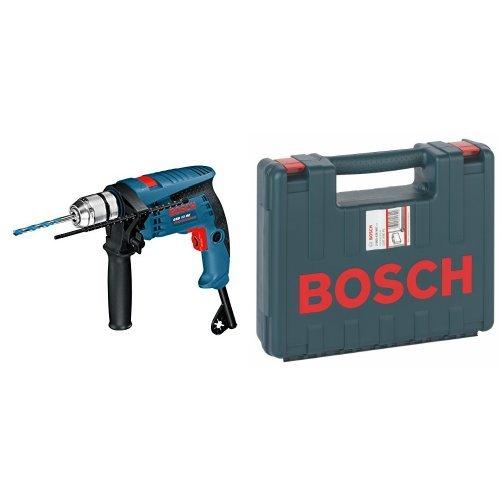 Bosch GSB 13 RE Professional - Taladro percutor (600 W, 240 V) + 2 605 438 607 - Maletín de transporte, 350 x 294 x 105 mm, pack de 1