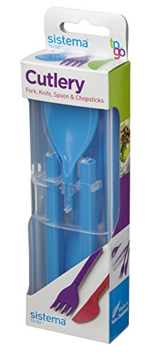 Sistema Fold Away Plastic Cutlery Set - Blue, Green, Purple or Pink - One Only