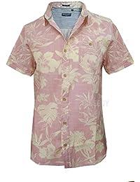 Brave Soul - Camisa casual - camisa - Floral - con botones - para hombre