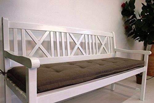 Polsterauflage Sitzkissen Gartenbank Parkbank 110 cm (Braun)