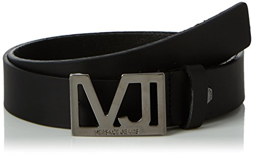 Versace Leder Jeans (Versace Jeans Herren Gürtel E77242, Schwarz (Nero), 110)