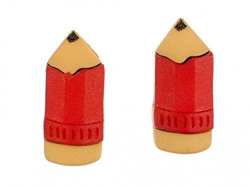 Buntstift Ohrstecker Miniblings Stecker Ohrringe Zeichnen Malen Bleistift rot