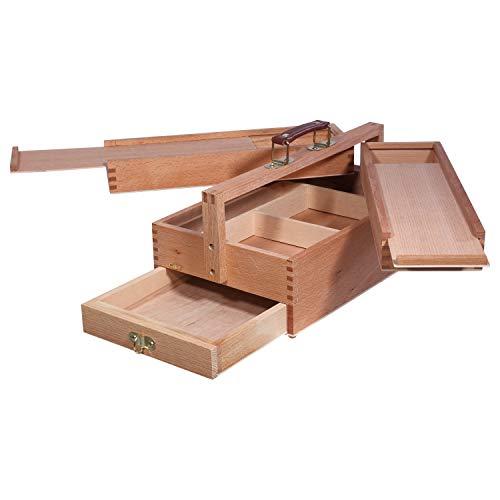 Caja de pinturas de madera de la marca Artina >Vannes Le ofrecemos la caja de pinturas Vannes Con la inteligente distribución de cajones y su alta calidad dejará latir los corazones de artistas más rápido. Sus extras y un acabado de madera maciza ...