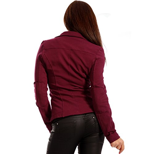 Veste courte en coton vintage Sweat Blazer Blazer pour femme Marron