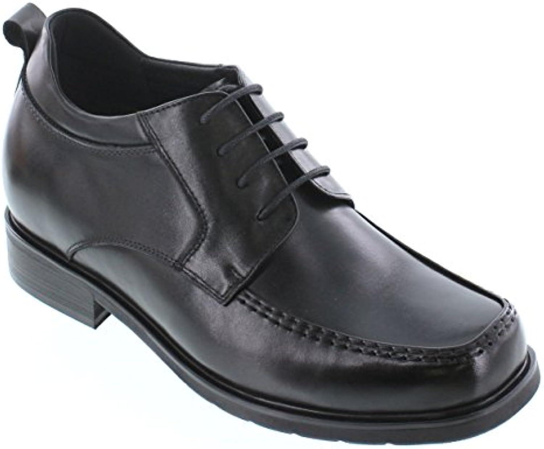 CALTO T52714 8 1 cm Größer   Die Höhe Steigerung Aufzug Schuhe   Schwarz Leder Schnüren Abendschuhe