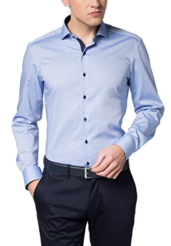 eterna Langarm Hemd Slim Fit Pinpoint Unifarben (Pinpoint Fit Slim)