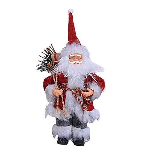 gaeruite Weihnachtsmann Stehend Figur Ornament Dekoration für Weihnachten, 30cm Langen Mantel