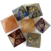 Set 7Chakra Stein Pyramiden mit Symbolen, spirituelle Heilung Stein Kit, Multi Edelstein Pyramide, Heilung Kristall... preisvergleich bei billige-tabletten.eu