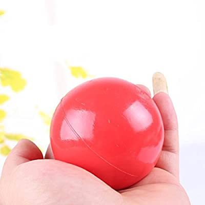 Durable Products For Pet Puppy Dog Red Solid Natural Rubber Elastic Pet Ball Toy-Dia 4.5cm