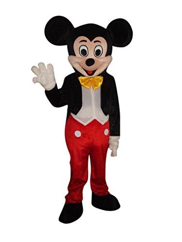 ie Maus Halloween Erwachsene Maskottchen Kostüm verrücktes Kleid Cosplay (Mickey Maus) (Minnie Maus Maskottchen Kostüme)