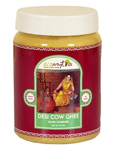 EcoMytra Desi A2 Cow Ghee (Hand/bilona Churned) - 0.5 Liter
