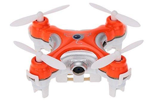 XuBa Cheerson CX-10C CX10C Mini 2.4G 4CH 6 Axis Nano RC Quadcopter con cámara RTF Modo 2 (Naranja) Regalo navideño de Halloween para niños