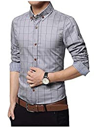 IndoPrimo Men's Cotton Casual Fancy Shirt for Men Full Sleeves