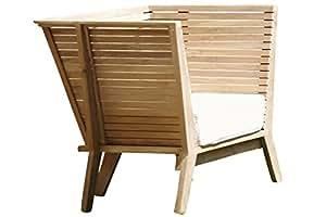 Jan Kurtz WILLIAM Sessel WILLIAM, Teak, 83/28 x 95/60 x 69/52 cm, incl.Sitzkissen,100 % Polyacryl,weiß,RV,montiert