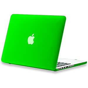 """Kuzy - Retina 13-Inch GREEN Rubberized Hard Case Cover for Apple MacBook Pro 13.3"""" with Retina Display Models: A1502 and A1425 (NEWEST VERSION) - GREEN"""