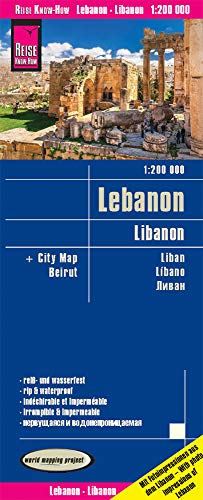 Reise Know-How Landkarte Libanon / Lebanon (1:200.000): reiß- und wasserfest (world mapping project)