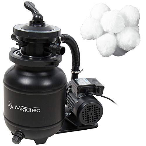 Miganeo® Sandfilteranlage Speedclean 7000 schwarz inkl. Filterballs 403902