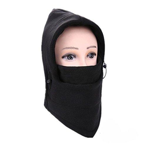 erthome 6 in 1 Outdoor Ski Masken Fahrrad Radfahren Mützen Winter Windstopper Gesicht Hüte (A) (Cool Einfach Gesicht Farben Für Halloween)
