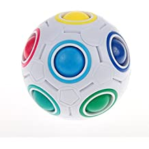 Yongjun Mágica bola del arco iris Bola del rompecabezas del tangram 3D Cubo magico  Juguetes de descompresión con bolsa de cubo gratis