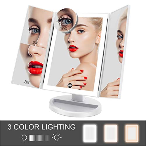 FASCINATE Espejo Maquillaje Luz 3 Modos Iluminación