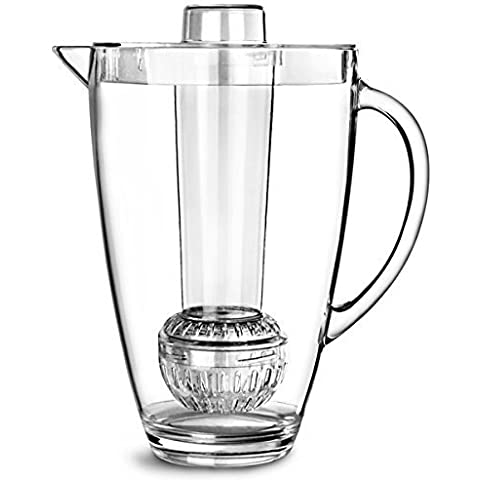 Brilliant - Patio Acrylic Pitcher 2-in-1 with Fruit Infuser and Ice Rod, 2.8 Liters