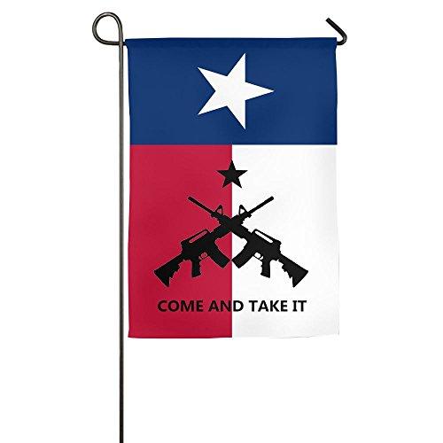 Pickle Rick Kommen und Take it Texas Klein Winter Yard Flagge Outdoor Garden Flaggen 12x 18Prime Deko 12 * 18inch Come and Take IT 2 - Ersten Garten Fahne S