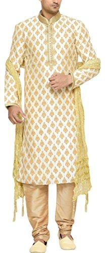 Indian-Poshakh-Mens-Silk-Sherwani-120238-38-Beige
